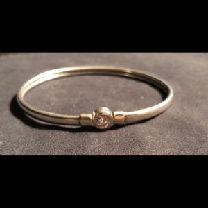 Sterling Cz bangle